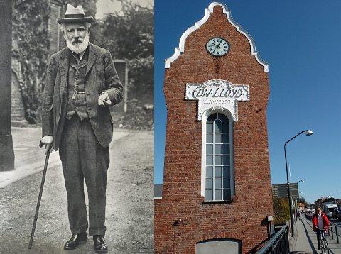 Edward Lloyd var en markant skikkelse, som endte med å navngi klokketårnet i Hønefoss.