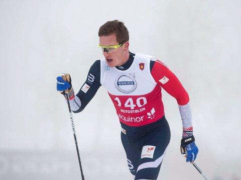 TUNG DAG PÅ JOBB: Eirik Sverdrup Augdal fikk ingen god opplevelse på 15 km klassisk på Beitostølen.