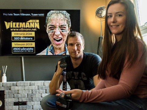 ARRANGØRENE: Morten Eriksen og Henriette Breien jobber på fulltid med å arrangere tre Villmann-løp.