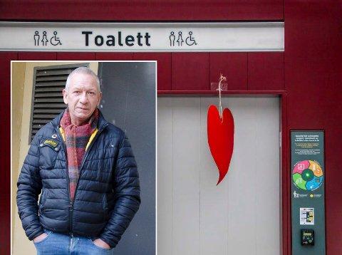 UTVENDIG: Slik ser den offentlige doen i Moss ut. Nå ønsker politikerne seg en lignende i Hønefoss sentrum. Ole Jan Kristiansen synes forslaget er godt.