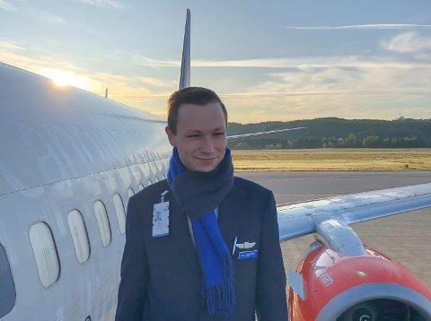 KAN MISTE JOBBEN: Flyvert Vidar Skjevling i SAS er en av 5.000 SAS-ansatte som nå risikerer å bli sagt opp som følge av koronapandemien.
