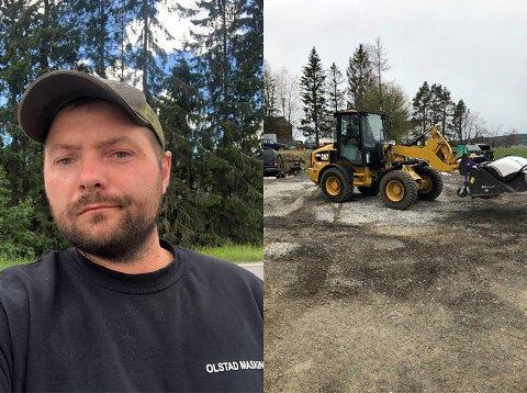 FREKK TYV: Frederik Olstad fikk sjokk da han skulle på befaring på byggeplassen lørdag morgen.