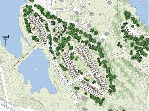 BOLIGER: I Verpen planlegges det for rundt 57 rekkehus og to eneboliger.