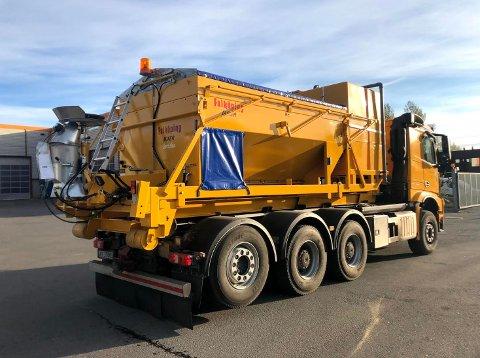 NYTT UTSTYR: Sandefjord kommune har anskaffet nytt saltutstyr, som reduserer saltforbruket til absolutt minimum.