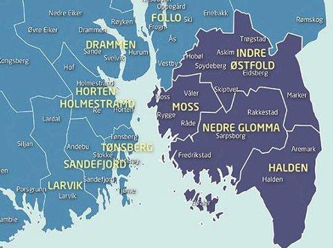 Nedlegger Østfold: Dagens fylkesgrenser kan om kort tid forsvinne helt. Nå må lokalpolitikerne også ta diskusjonen om å slå sammen Østfold og Akershus. Det blir et fylke på rundt 9.100 kvadratkilometer med over 870.000 innbyggere.