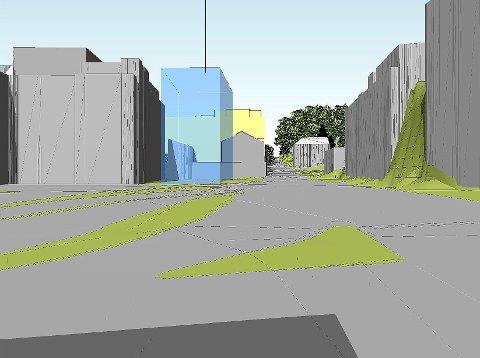 NYE SKISSER: Skisser viser hvordan det nye sykehjemmet i Kverndalen vil kunne se ut se ut.
