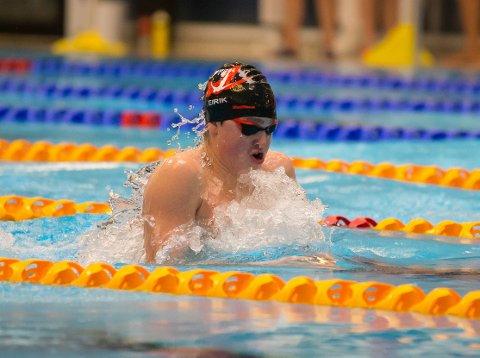 TALENT: Eirik Vinje Olsen er blant landets beste medleysvømmere for junior. Han ble nummer fire på 200 medley i Stavanger.