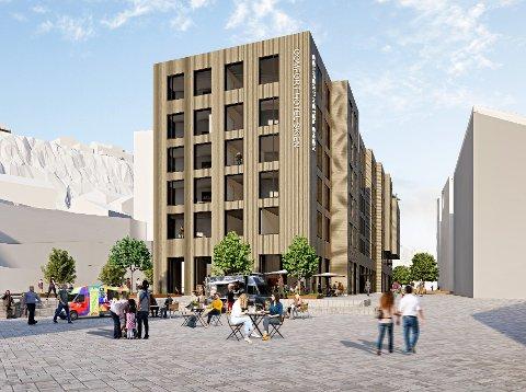 NYTT STORT HOTELL: Hotellet på 6000 kvadratmeter vil gi en ny vitalitet til byen, mener Teo Luisa som står bak hotellet som vil åpne i siste kvartal 2024.