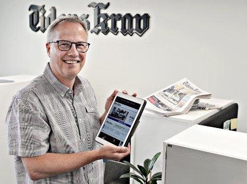 Sjefredaktør Ole Knut Alnæs sier interessen for lokale nyheter er økende.