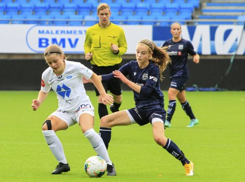 Seriefinale: Ingrid Elise Staurnes (til høyre) og KBK tapte mot Molde 2 sist helg. Søndag er det seriefinale mot Surnadal.