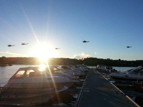 Det blir helikopteraktivitet over Oslofjorden de kommende dagene. Dette bildet er tatt under en øvelse i 2013.