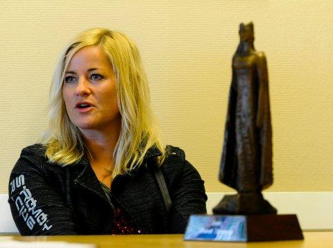 FULL FRES: Marit Strømøy, vinner av Kristinastatuetten 2015, gir gass i Kina i helgen.
