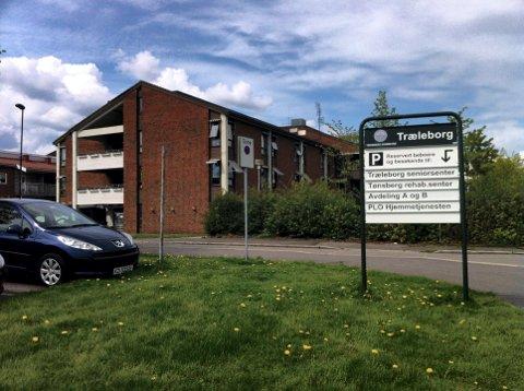 PASIENT DØDE: Lørdag døde en eldre pasient av covid-19 ved Træleborg sykehjem.