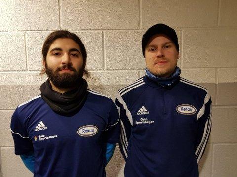 ARE YOU READY? Hiwa Hosseinzadeh (til venstre) og Ulrik Rygg kjemper om keeperplassen, og jobber samtidig som keepertrenere for barn og unge i Oslo-klubben.
