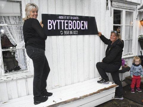 Nystartet: Ingeborg Espeland og Elisabeth Sagemoen Espeland driver Bytteboden på Simonstad.