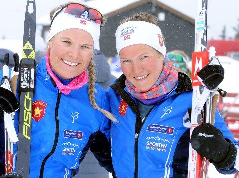 Semifinale: Målet for Mari Eide (t.v.) og Maren Wangensteen er finale, noe de klarte på heimebane på Beitostølen i 2017.