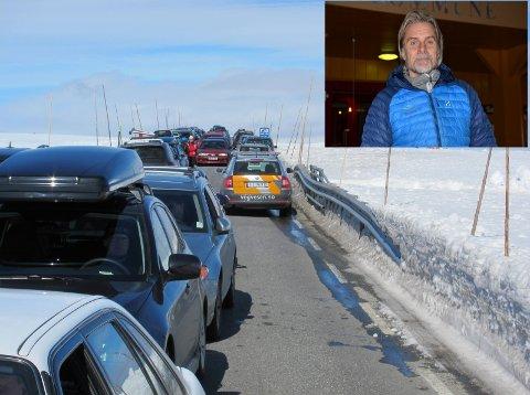 Strategi: Bjarne Budal (Ap) etterlyser ein klar strategi for fylkesvegen over Valdresflye. – Kva vil Øystre Slidre kommune framover? Kva vil Vågå?