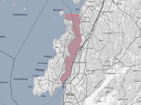 FISKEFORBUD: Innenfor det markerte feltet er det nå forbudt å fiske.