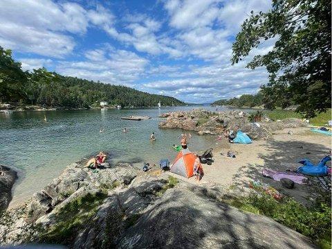 Hvordan oppdager du at noen på stranden er i ferd med å drukne?  Bildet er fra Breivoll.