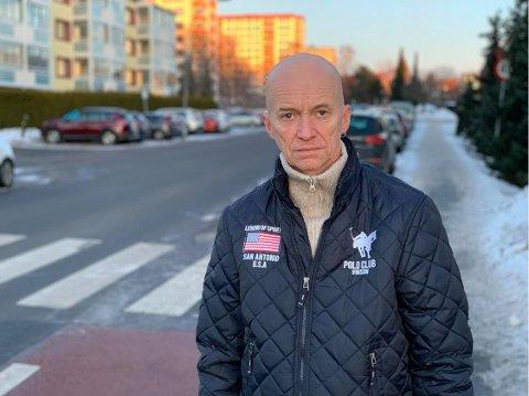 Edvin Hammervold er styreleder i Rødtvedt borettslag. Han er en sentral stemme mot fjerning av parkeringsplasser i Oslo.