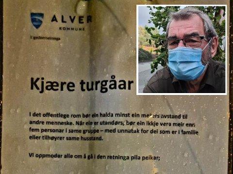 UNØDVENDIG KONFLIKT: Yngve Wik ber Alver kommune om å skilte skikkeleg rundt Kvassnesstemma for å unngå konflikt.