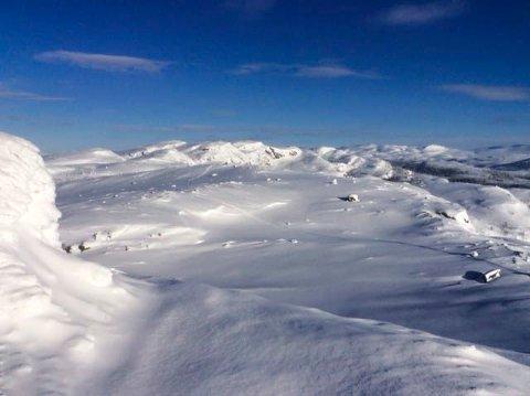 VESTFJELLA: Det er kjørt opp 50 kilometer med løyper i Eggedal Vestfjell.