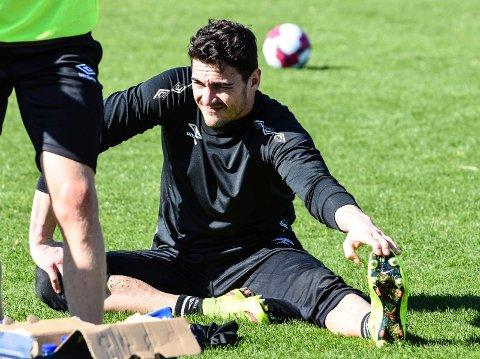 FØRST TRENINGSLEIR, SÅ KONTRAKT: Ørn-keeper Miguel Vieira var med Mjøndalen på treningsleir i fjor vinter, uten at det ble kontrakt den gangen. Den signerte han imidlertid i august i fjor da Sosha Makani forlot klubben. I dag spiller han i treningskampen mot Raufoss.