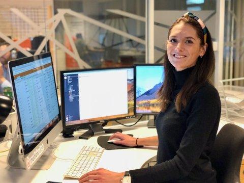 PÅ BERGEN-KONTOR: Guro Bryn Høgheim har lang erfaring som senior prosjektleiar i Mediebruket, og har tidlegare vore konstituert dagleg leiar i selskapet, medan Arild Finne Nybø var i permisjon.