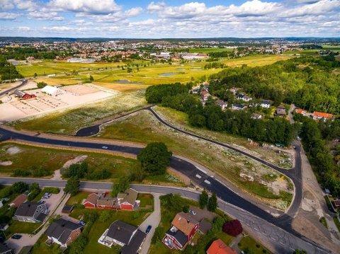 De kommunale eneboligtomtene på Oldenborg er populære for private husbyggere.