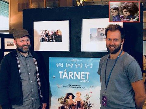 FESTIVALKLARE: Festival Director Anders Narverud og filmaktuelle Mats Grorud håper mange tar turen til Fredrikstad kino i løpet av helgen for å få med seg animasjonsfilmen «Tårnet».