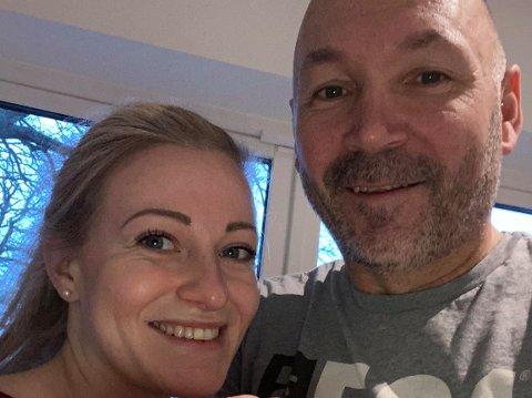 ETTER FRIERIET: Tonje Johannessen og Jan Vidar Aashildrød har hatt en fin romjul som nyforlovet.