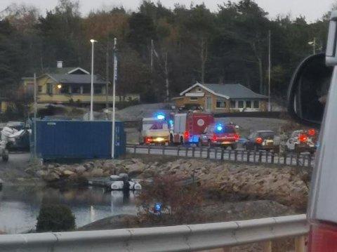 Trafikkulykken skjedde ved Stokken Marina like før klokken sju onsdag morgen.