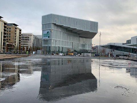 Deichman Bjørvika, et nytt monumentalbygg ved siden av Operaen.