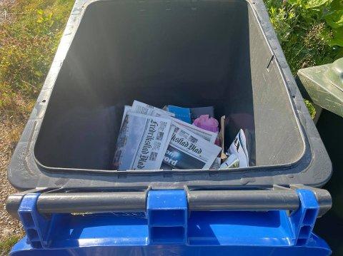 Heller ikke denne sommeren er det innsamling av papir hos de fleste av kommunens husstander. Isteden har kommunen satt ut kontainere flere steder i Fredrikstad.
