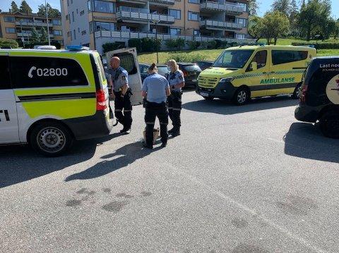 Flere patruljer rykket ut til Wilbergjordet onsdag ettermiddag.