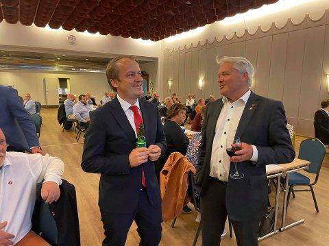 Erlend Wiborg og Bjørnar Laabak innser at det trolig bare er én av dem som kommer til å ende med fast plass på Stortinget: Wiborg. Laabak lover å være i kamphumør de neste fire årene uansett.