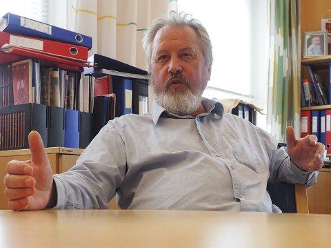 BRENNER: Rune Arnøy har et brennende engasjement for havna. Nå har han og havnestyret sikret finansiering av en film om kampen om Narvik i 1940.