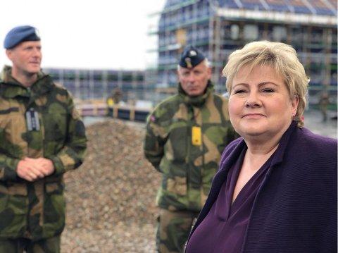 STATSMINISTEREN: Erna Solberg ankom søndag Evenes.