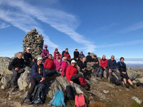 Jæren turlag er ope for alle. Her er fjellturgruppa på Vådlandsknuten.