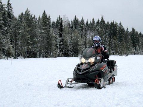 SCOOTERE: En av fem hedmarkinger vil kjøre snøscooter.