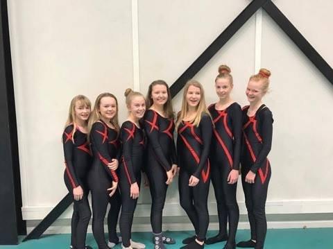 NM: Jentene fra Kongsvinger som forsøker å kvalifisere seg for NM junior kvinner.
