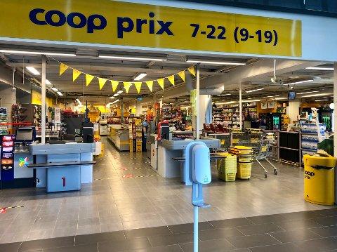 STIKKPRØVE: Vi sjekket hvor mange kunder som spritet hendene før de gikk inn på lokalbutikken Coop Prix på Epa kjøpesenter i Kongsvinger.