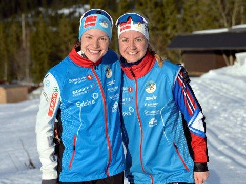 Lillehammers kvinnelag endte på niendeplass. På Laget gikk Magni Smedås Smedås (t.v) og Marthe Bjørnsgaard.