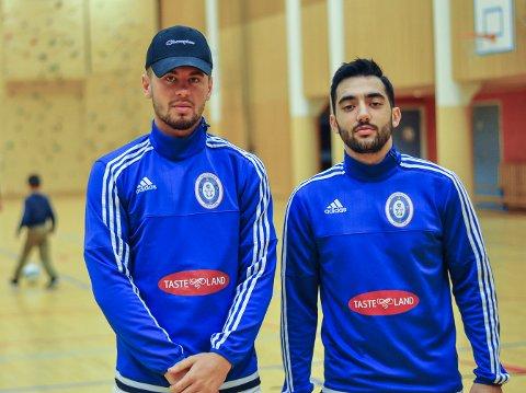 TAPTE: Rinor Topollaj (tv) og målscorer Arber Gashi kunne ikke forhindre at Rolvsøy vant.