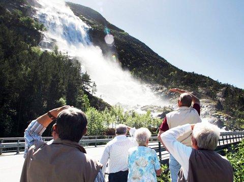 LANGFOSS:  Mest populær blant utenlandske turister.