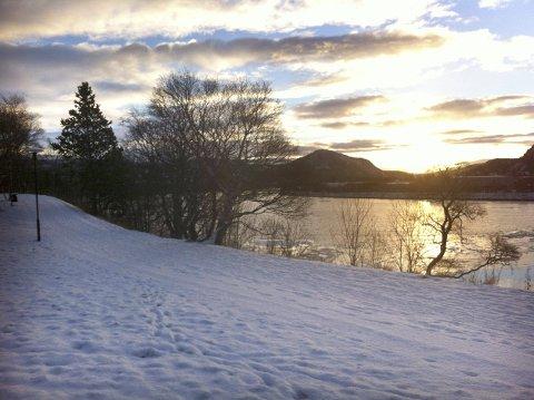 Flott vintervær, men i første omgang vil det ikke vare så lenge. (Foto: Rune Pedersen)