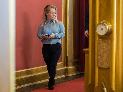 Sandra Borch (Sp) i stortingets spørretime i 2018. Foto: Vidar Ruud / NTB