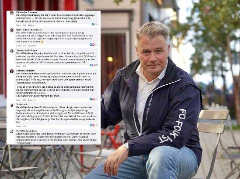 SKAPER STERKE REAKSJONER: Per-Willy Amundsen går hardt ut mot sine egne ungdomspolitikere på Facebook.