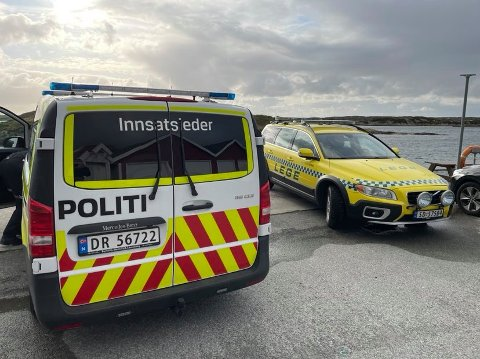 KVEITEVIKEN: Nødetatene har dratt ut til Kveiteviken som er den nærmeste hurtigbåkaien til Feøy.