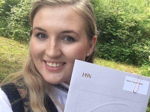 Hanne Tangen Rørdal flytta frå Kvinnherad for å studera optometri i Kongsberg etter vidaregåande.